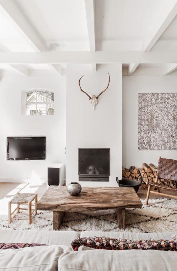 Естествените материали придават на къщата топлината и регулират влажността. През зимните месеци, ако имате мебели, изработени от дърво, ще се чувстват в безопасност и прибран.