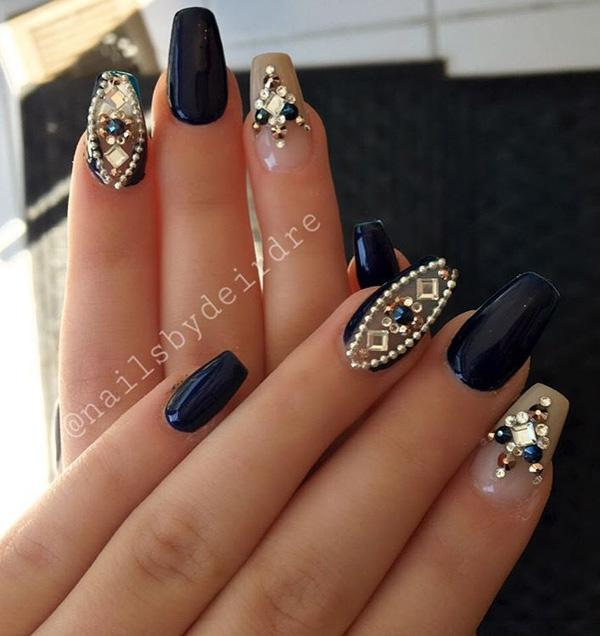 Nail Designs With Rhinestones And Glitter | Graham Reid