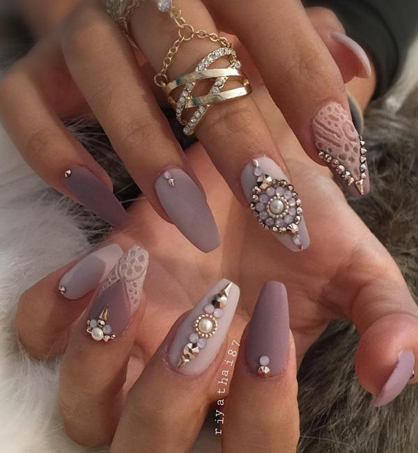 rhinestone-nail-art - 50 Rhinestone Nail Art Ideas ... - 50 Rhinestone Nail Art Ideas Art And Design