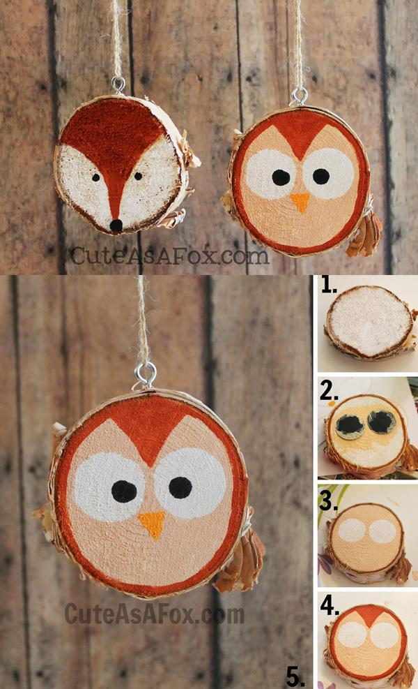 rustic-hand-painted-woodland-creature-ornaments
