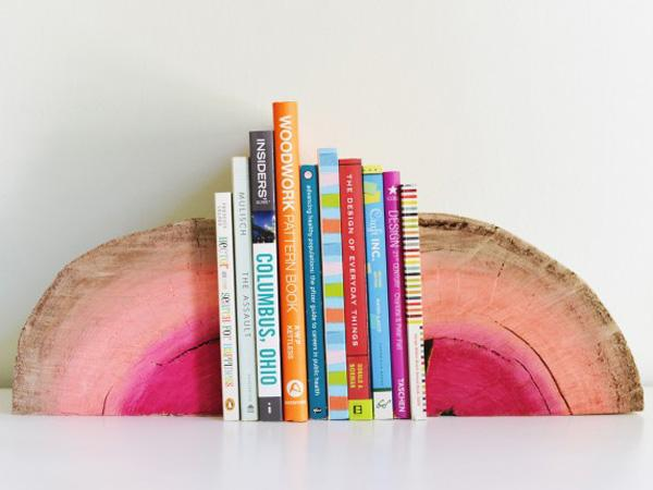 use-quarter-sofa-log-to-form-colorful-bookends