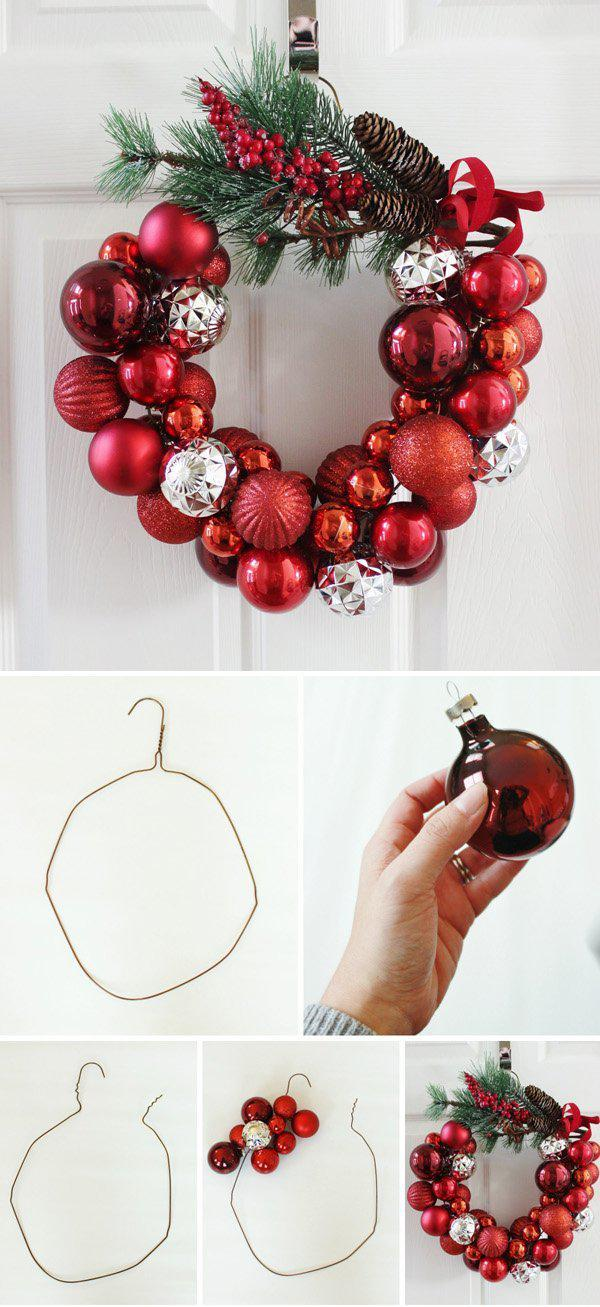 a-christmas-ornament-wreath-with-a-wire-hanger