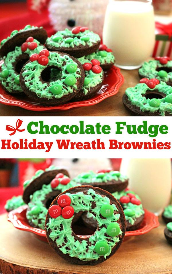 chocolate-fudge-holiday-wreath-brownies