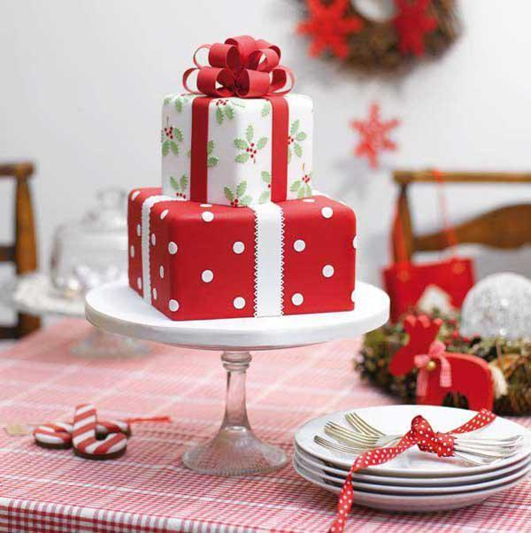 Christmas Cake Decoration Present : 40+ Christmas Cake Ideas Art and Design
