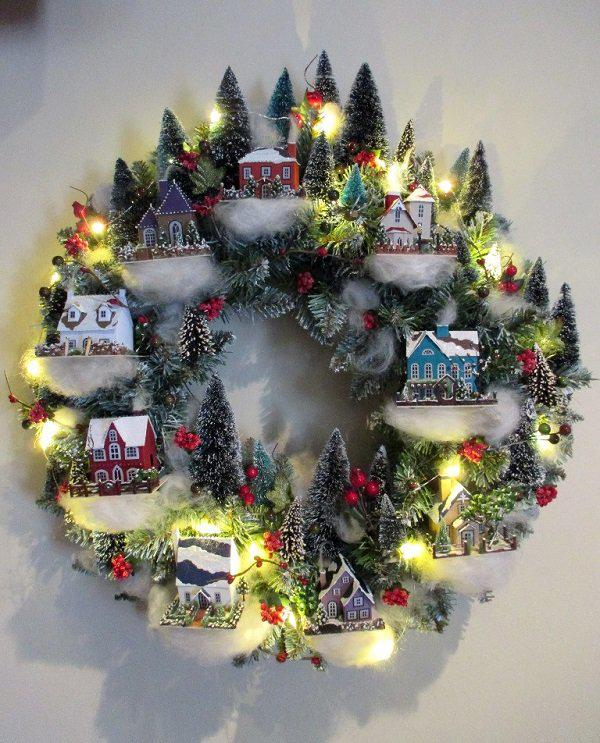 christmas-village-wreath