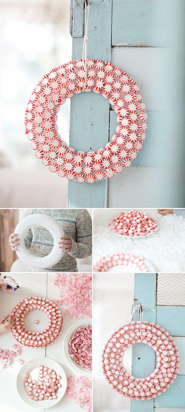 diy-peppermint-wreath