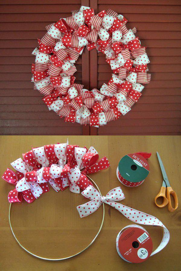 easy-to-make-christmas-ribbon-wreath