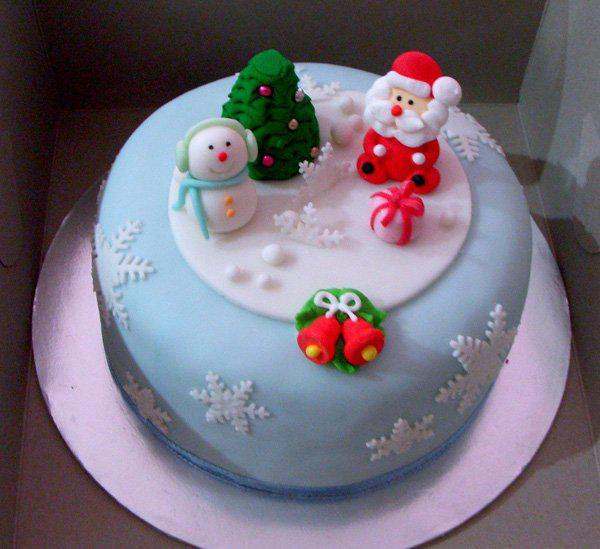 40+ Christmas Cake Ideas  Art and Design ~ 073633_Cake Decoration Ideas Xmas
