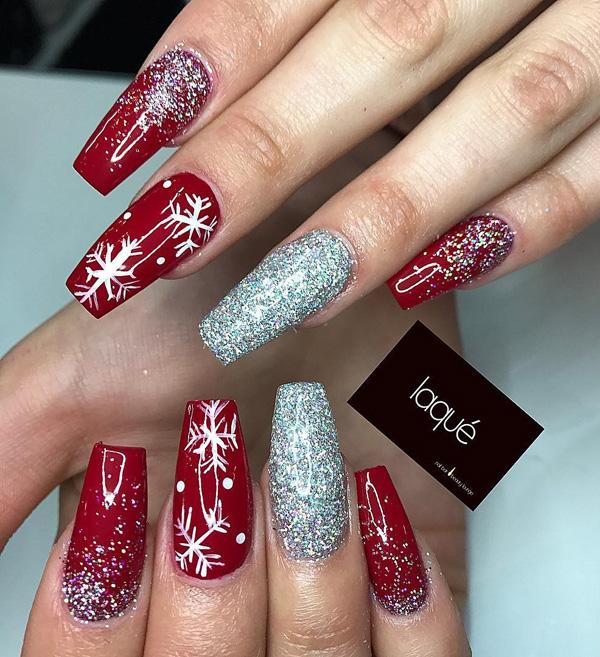 Xmas Nail Colours: 55 JOYFUL CHRISTMAS NAILS IDEAS