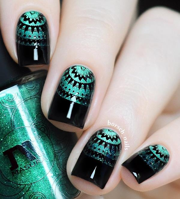 If you aren't good drawer buy stickers that you can use to get this ... - 60 Dark Nails For Winter Art And Design