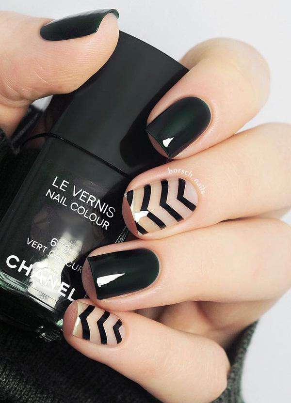 60 Dark Nails for Winter | Art and Design