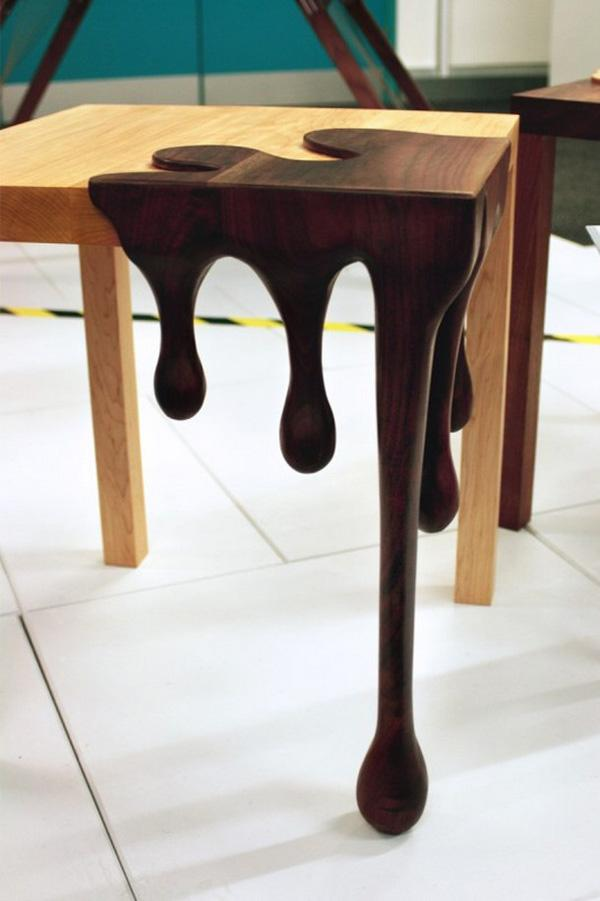 Nicely combined classic and modern version of coffee table, and also  lighter and darker color ...