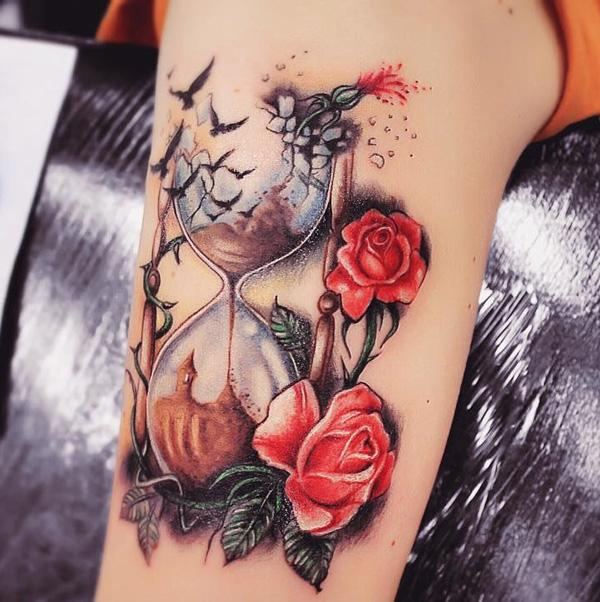 60 Hourglass Tattoo Ideas | Art and Design