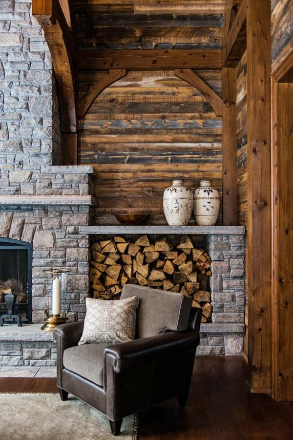 it is enough to look at a fireplace in the living room and it will warm - Rustic Interior Design Ideas
