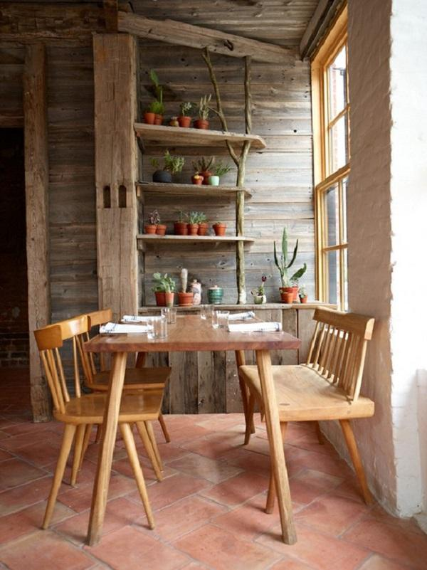 Hereu0027s Another Idea To Use Untreated Wood. The Floor Is Covered With Tiles  That Are ...