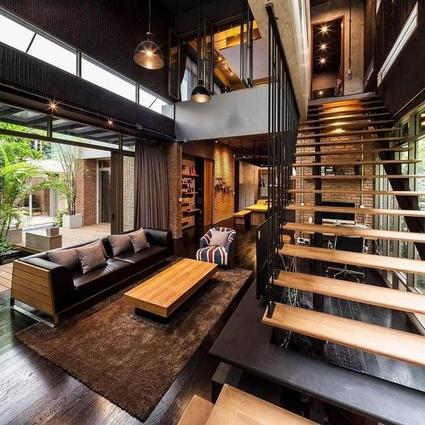 Modern Home Enriched With A Lot Of Details From Real Wood Beautifully  Processed And With Straight ...