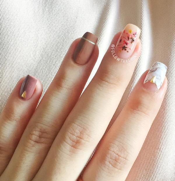 Moderate length of nails. Earth tones are popular for several seasons in a  row ... - 45 Chic Classy Nail Designs Art And Design