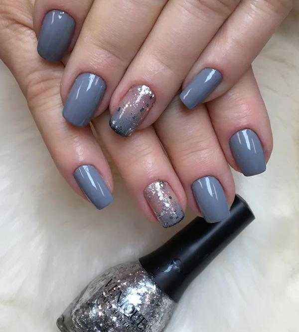 45 chic classy nail designs art and design clean gray color is a little bit cold for my taste however prinsesfo Gallery