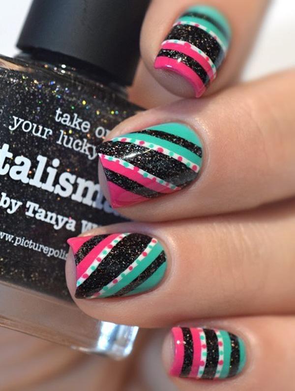 45 Multicolored Nail Art Ideas | Art and Design