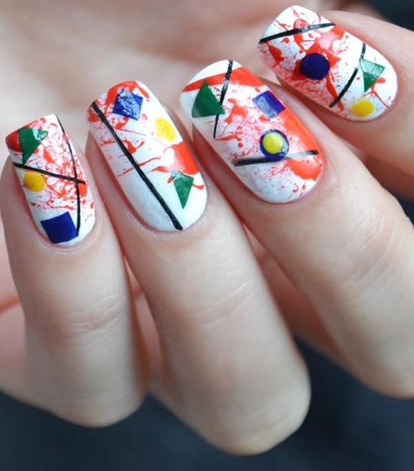 45 Multicolored Nail Art Ideas 3