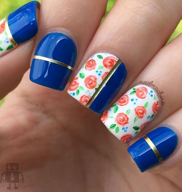 45 Multicolored Nail Art Ideas <3 ... - 45 Multicolored Nail Art Ideas Art And Design