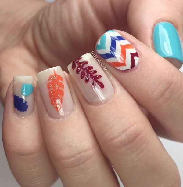 45 Multicolored Nail Art Ideas <3 ... - 45 Multicolored Nail Art Ideas Art And Design