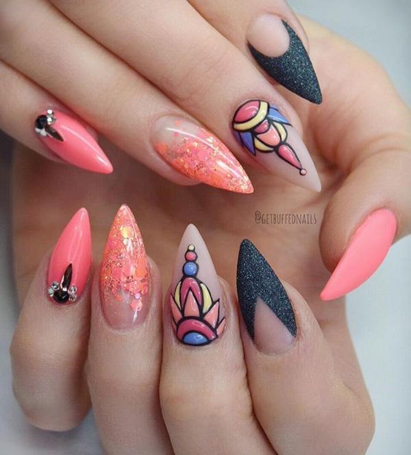 45 multicolored nail art ideas art and design 45 multicolored nail art ideas 3 prinsesfo Images