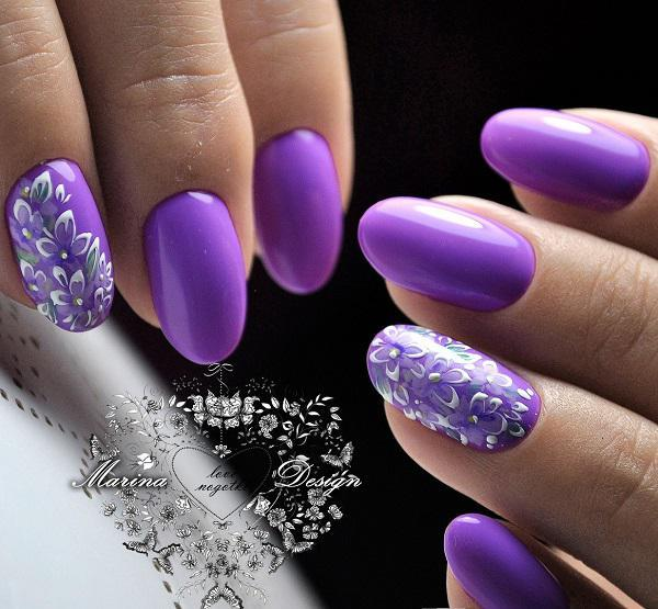 45 Purple Nail Art Designs 3
