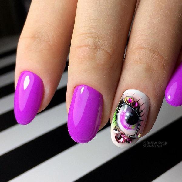 45 Purple Nail Art Designs Art And Design