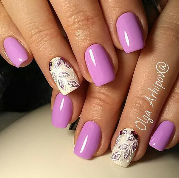 For Wver The Length Of Nails You Decide Purple Color Will Suit Them