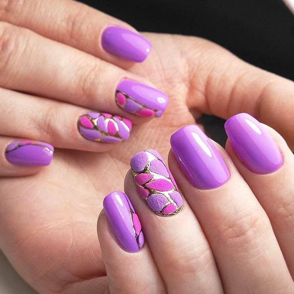 45 Purple Nail Art Designs Fashion Beauty
