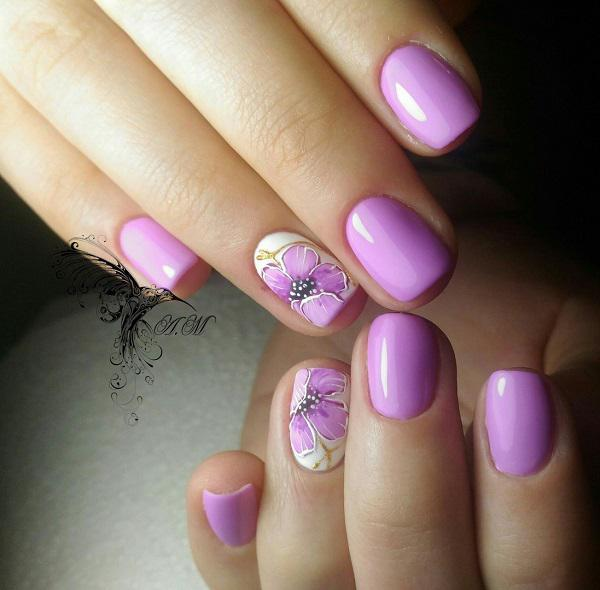 45 Purple Nail Art Designs | Art and Design