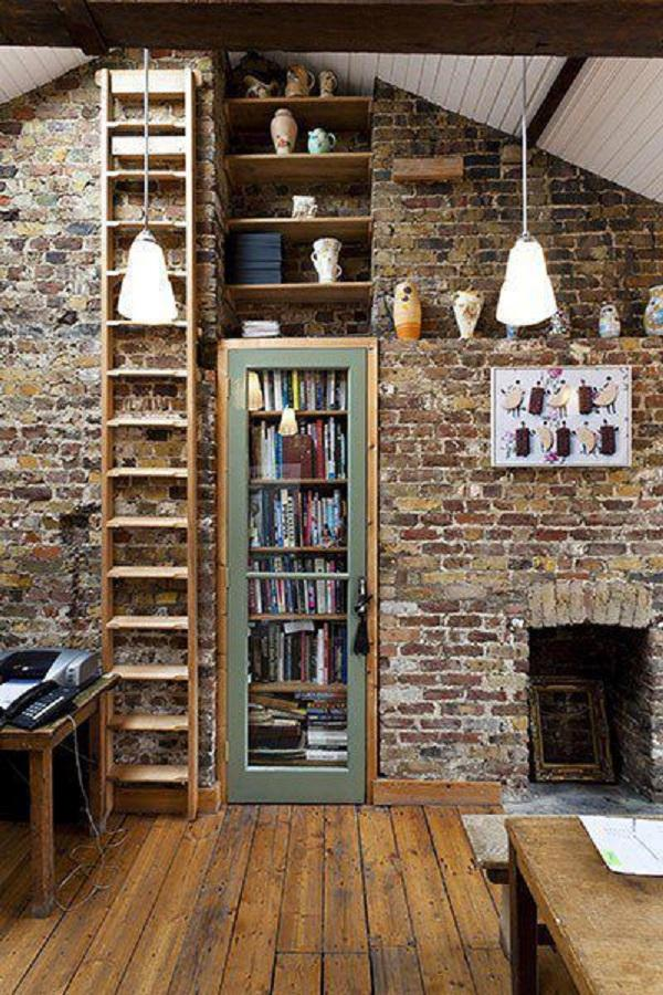 This Wall Of Bricks Is Excellent, But The Bookshelves Behind A Door In The  Wall ...