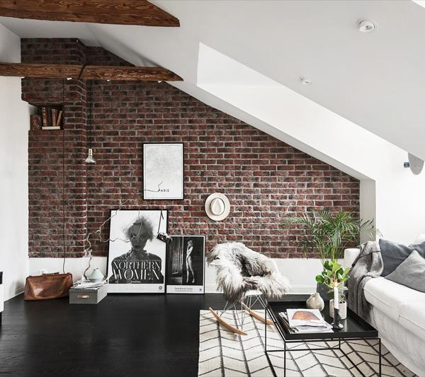 For a brick wall you donu0027t need a lot of details shelves ... & 55 Brick Wall Interior Design Ideas | Art and Design