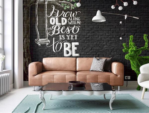 Nice In this modern apartment dominate white tones and their great refreshment is this wall of