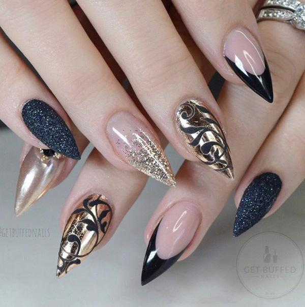 55 Chrome Nail Art Ideas 3