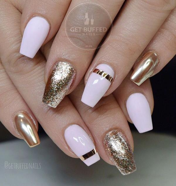 Here is enough to say: pure luxury on your nails! - 55+ Chrome Nail Art Ideas Art And Design