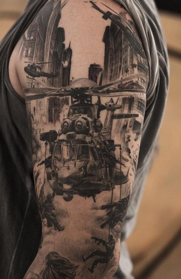 40  Stunning War Themed Tattoos Art And Design