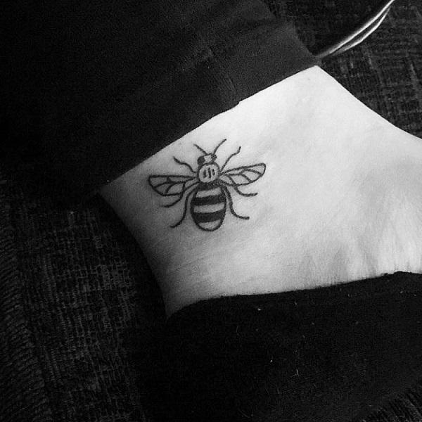 54fd7ab13 Cute Little Bee Tattoo for Ankle. This lovely insect can get inked on any  part ...