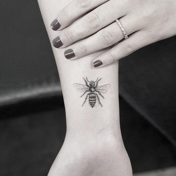 746625854 The Micro Honey Bee Tattoo. If you want a bee tattoo on your wrist, ...