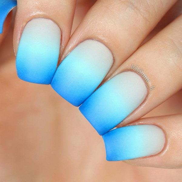 Ombre With Fine Crosses Of One Color To Another Irresistibly Reminds On The Sea And
