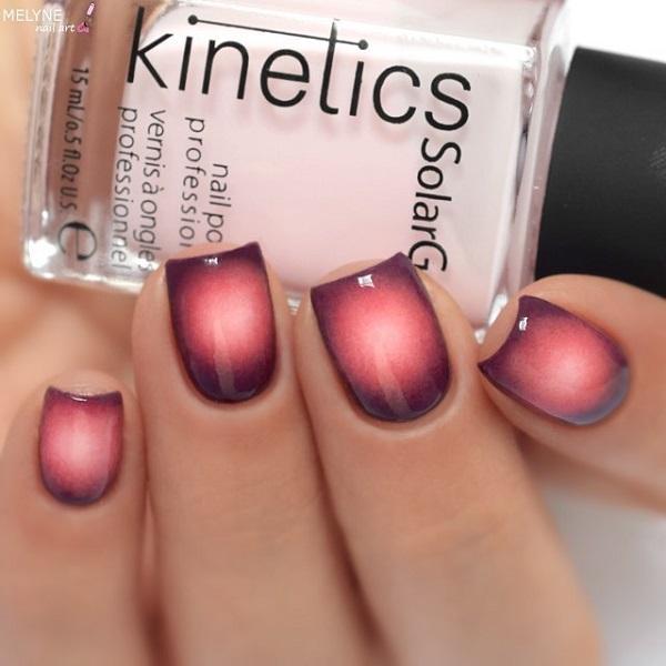 Вы пробовали такого рода омбре? Это выглядит очень красиво, и цвета красиво разливаются друг к другу.