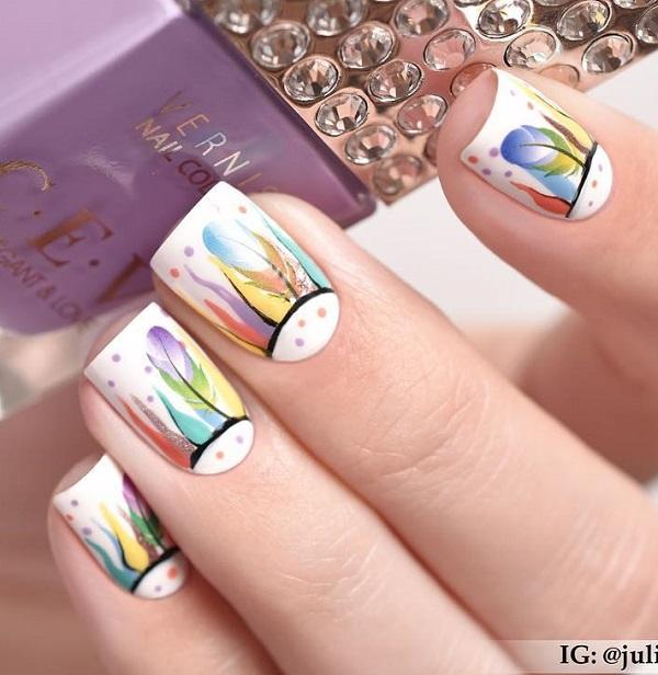 70 square nail art ideas art and design art works can be created also on nails not just on canvas and paper prinsesfo Gallery
