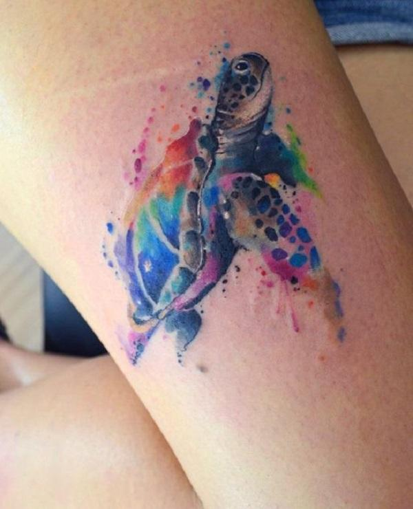 45 turtle tattoo design ideas art and design the best places to make tattoos are face and head in general elbow gumiabroncs Image collections
