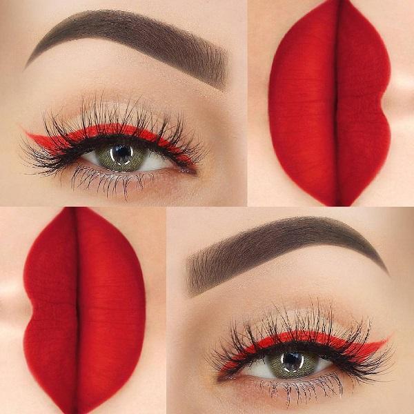 Красный цвет всегда в моде, он вечен, как белый и черный. Выберите красный оттенок, который будет соответствовать лучше всего на ваших губах.