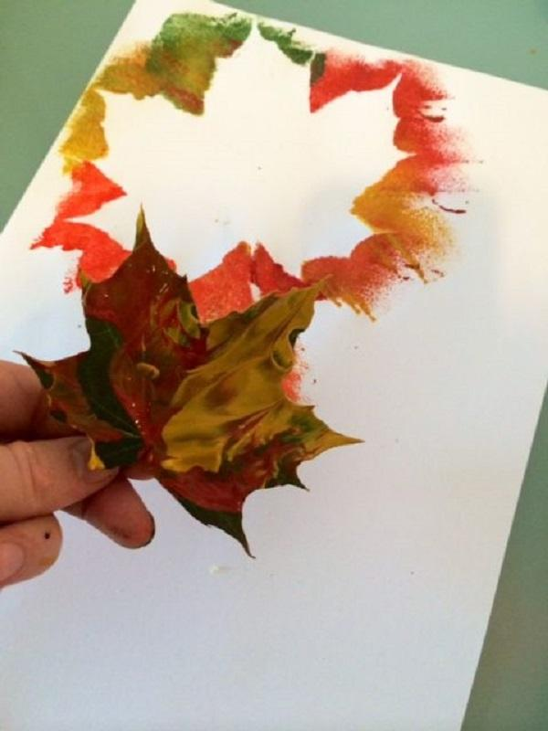 Kids Craft Ideas For Fall Part - 33: Use Leaves As Templates For Making Pictures. Play With Colors,  Temperaments, Water Colors ...