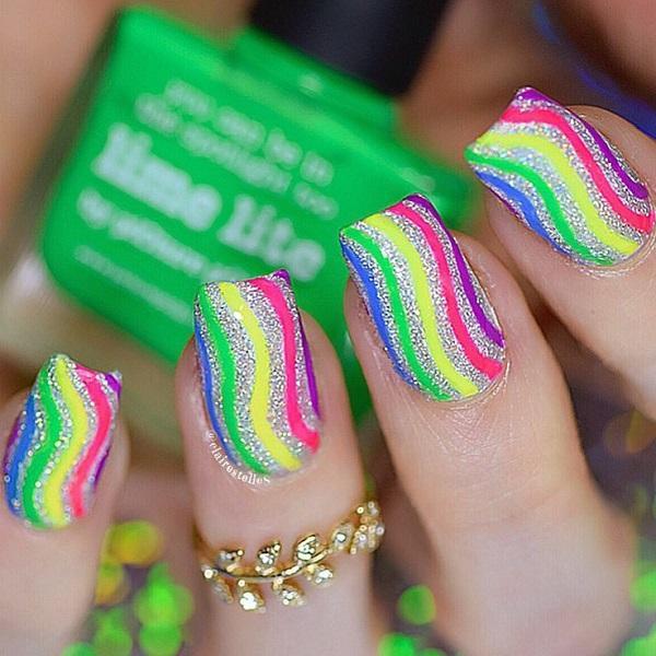 Stripes Nail Art