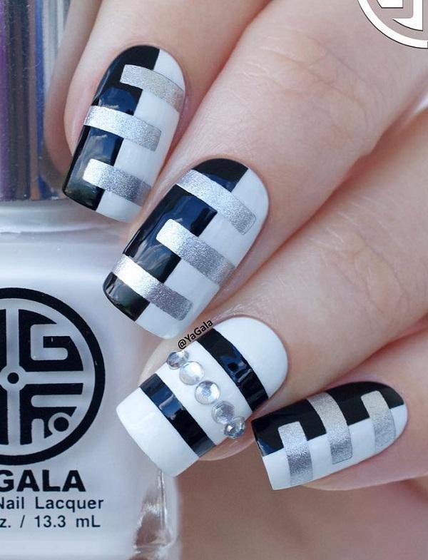 55 Stripes Nail Art Ideas Obsigen