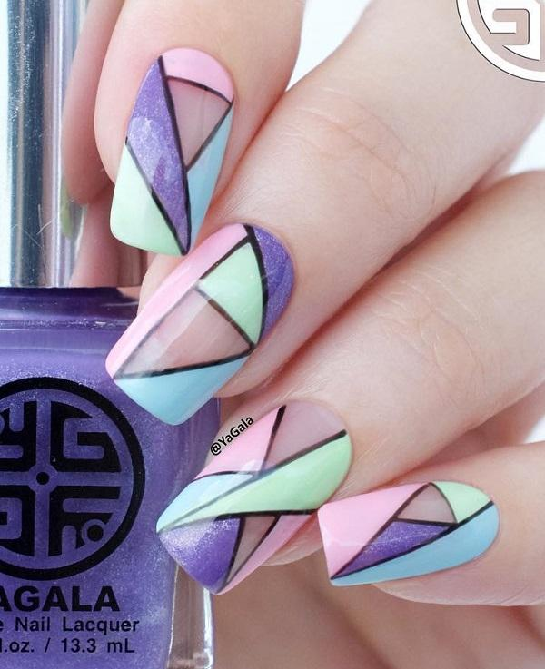 55 Stripes Nail Art Ideas Art And Design