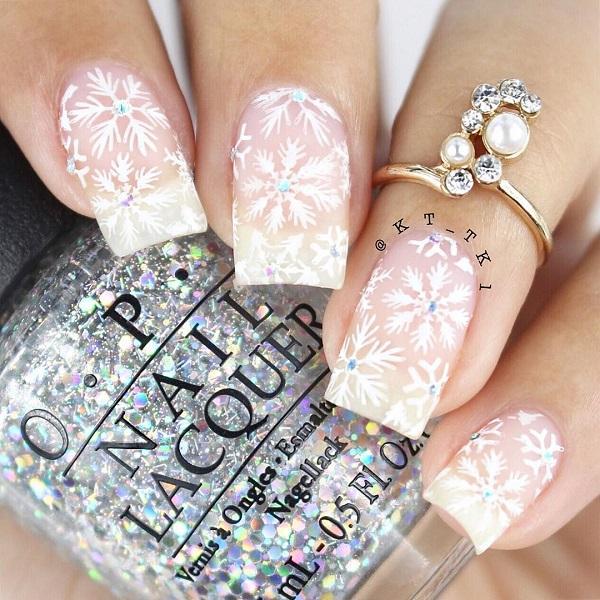 40 Snow Nail Art Ideas For Winter Art And Design